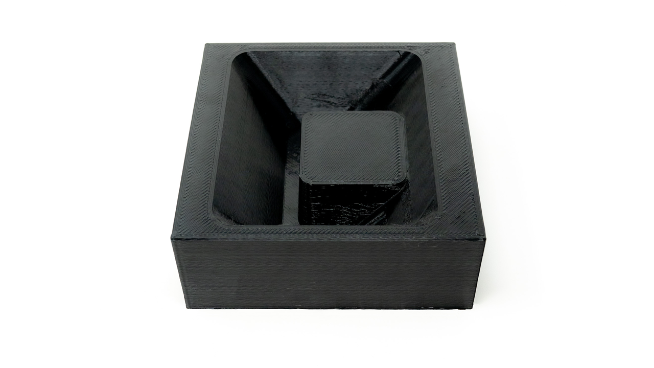 black custom fixture for electronics assembly